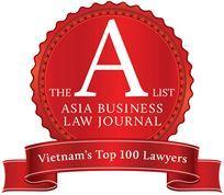 LUẬT SƯ ĐIỀU HÀNH CỦA VINA LEGAL VÀO DANH SÁCH VIETNAM'S TOP 100 LAWYERS CỦA ASIA BUSINESS LAW JOURNAL